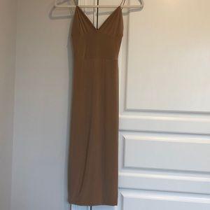 Misguided spandex midi dress